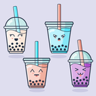 Kawaii Bubble Tea Wallpaper
