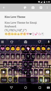 Screenshots - Kiss Love Emoji Keyboard Theme