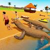 Komodo Dragon Family Sim: Beach & City Attack
