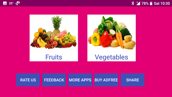 Screenshots - Learn English Fruits and Vegetables From Hindi