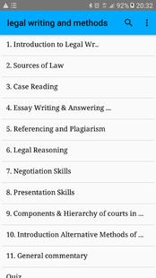 Screenshots - Legal Writing and Methods