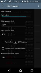Screenshots - Libre Alarm