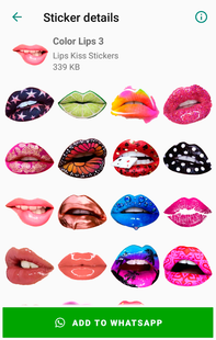 Screenshots - Lips Kiss Stickers for WhatsApp 💋 WAStickerApps