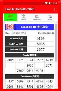 Screenshots - Live 4D Results 2020