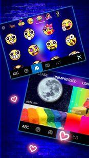 Screenshots - Love Heart Neon Wallpapers Keyboard Background