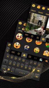 Screenshots - Luxury Golden Black Keyboard Theme