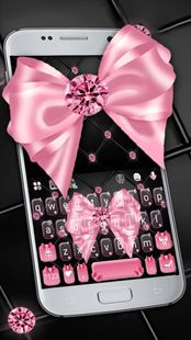 Screenshots - Luxury Pink Bow Keyboard Theme