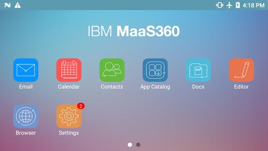 Screenshots - MaaS360 for Honeywell NEXT GEN