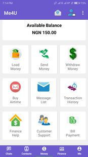 Screenshots - Me4U - Chat Shop Send and Receive Money instantly