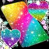 Multi color glitter live wallpaper
