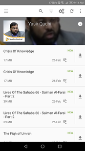 Screenshots - Muslim Central - Islamic Audio Lectures - Official