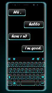 Screenshots - Neon Blue Black Keyboard Theme