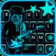Neon DJ Music Keyboard Background