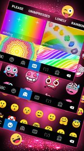 Screenshots - Neon Pink Galaxy Keyboard Theme