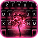 Neon Pink Galaxy Keyboard Theme