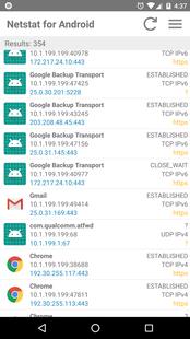 Screenshots - Netstat for Android