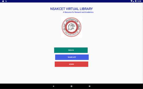 Screenshots - NSAKCET Virtual Library