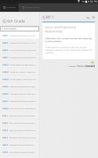 Screenshots - NY State Learning Standards