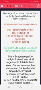 Screenshots - OBD Diagnosis - coding - coding values - german