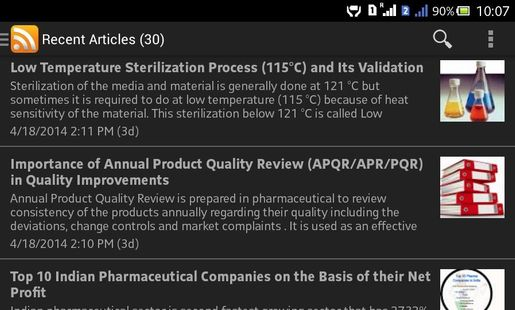 Screenshots - Pharmaguideline: Pharmaceutical Guide