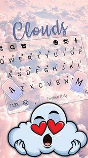 Screenshots - Pink Clouds Keyboard Background