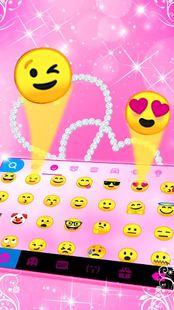Screenshots - Pink Diamond Hearts Keyboard Theme