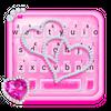 Pink Diamond Hearts Keyboard Theme