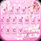 Pink Floral Sakura Keyboard Theme