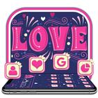 Pink Graffiti Love Heart Theme