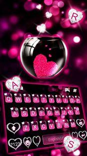 Screenshots - Pink Heart Glass Keyboard Theme