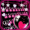 Pink Heart Glass Keyboard Theme