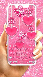 Screenshots - Pink Hearts Keyboard Theme