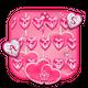 Pink Hearts Keyboard Theme