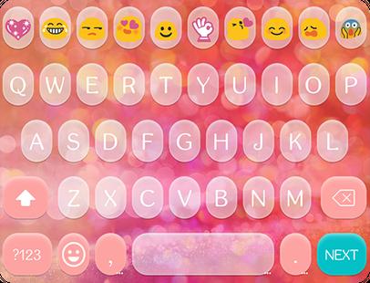Screenshots - Pink Love Emoji Keyboard Theme