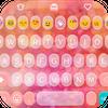 Pink Love Emoji Keyboard Theme