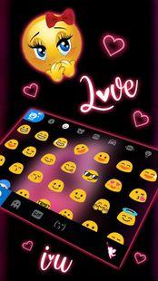 Screenshots - Pink Love Neon Keyboard Theme