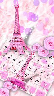 Screenshots - Pink Paris Tower Keyboard Theme