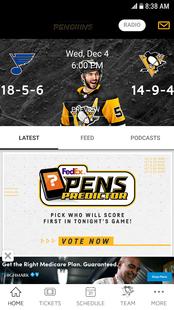 Screenshots - Pittsburgh Penguins Mobile