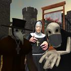 Plague Doctor Neighbor. Scary Nun and Grim Escape
