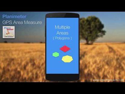 Video Image - Planimeter - GPS area measure | land survey on map