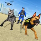 Police Dog VS Wild Wolf Attack Survival City