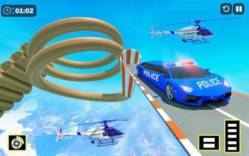 Screenshots - Police Limo Car Mega Ramp Racing Game