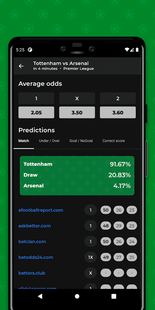 Screenshots - Predict0r - Tips and predictions