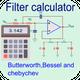 Pro Filter calculator- RC, RL, RLC & active filter