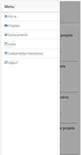 Screenshots - Projetei - Gestão para escritório de arquitetura
