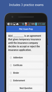 Screenshots - Property & Casualty Insurance Exam Prep