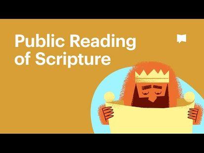 Video Image - Public Reading of Scripture
