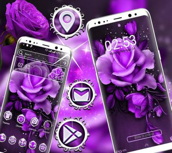 Screenshots - Purple Rose Launcher Theme