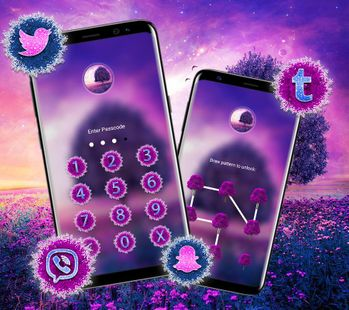 Screenshots - Purple Tree Flowers Launcher Theme