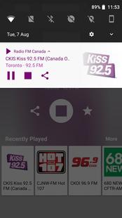 Screenshots - Radio FM Canada